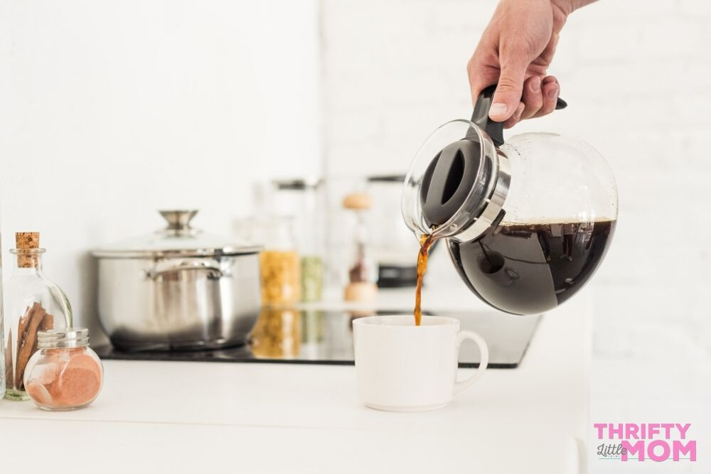 a coffee pot full of coffee from a subscription service is a great mother's day gift idea