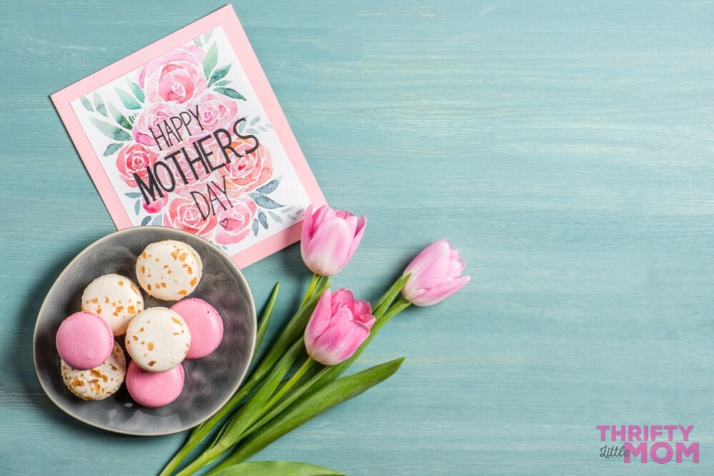 macrons and flowers make a great mother