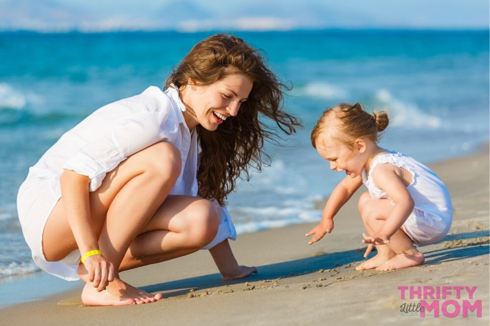 a trip to the beach is a great thing to do for a cheap birthday party idea