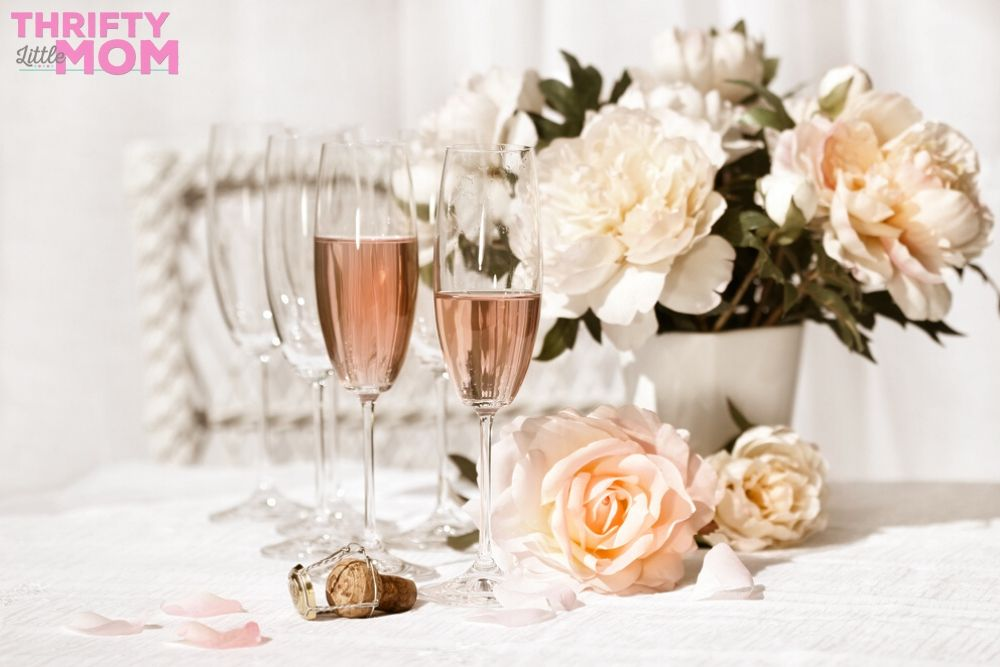enjoy blush champagne at your lingerie party