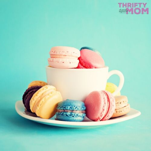 macarons are a lovely treat idea at a tea party