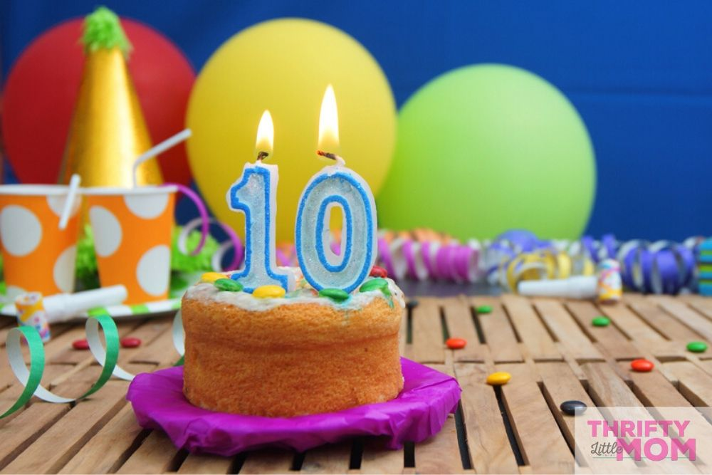 have a party at home for 10 year old birthday party ideas