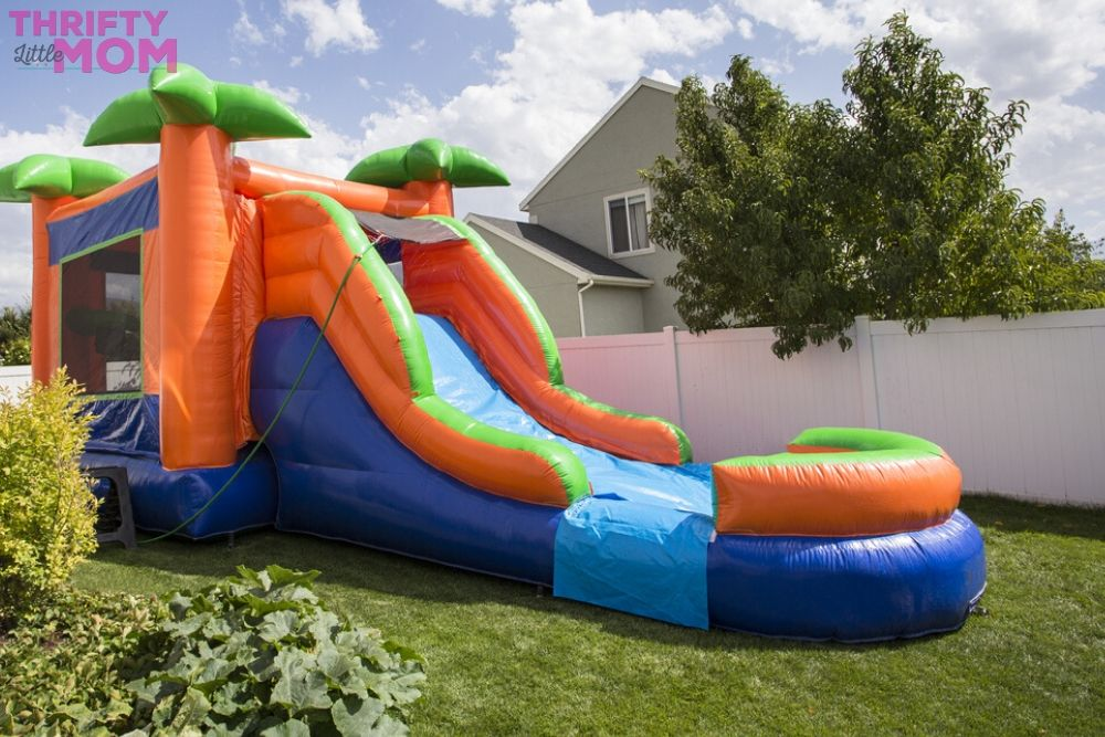 inflatable slides are fun for 8 year old birthday party ideas