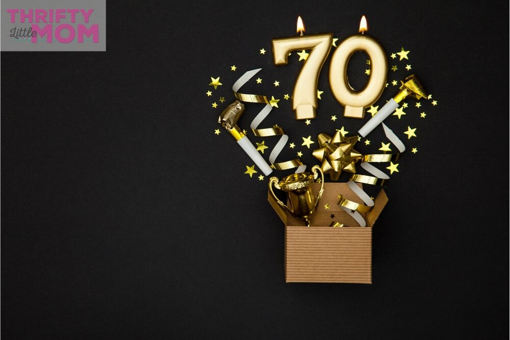 70th birthday ideas for mom with candles that number 70