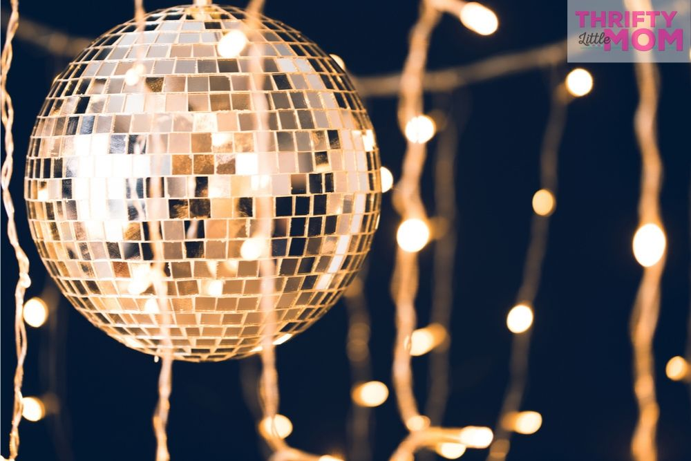 make sure you have a mirrored ball at your disco party