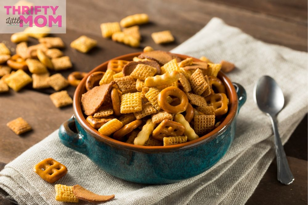chex mix is a classic favorite for snacks when you