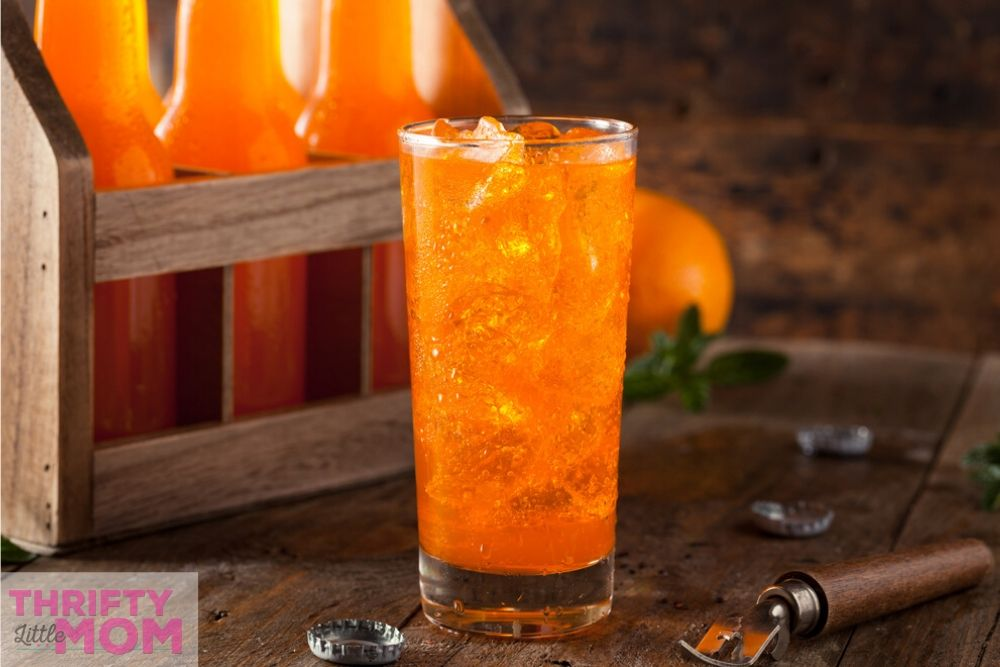 orange soda was popular during the 70s and makes for a great kids disco party drink