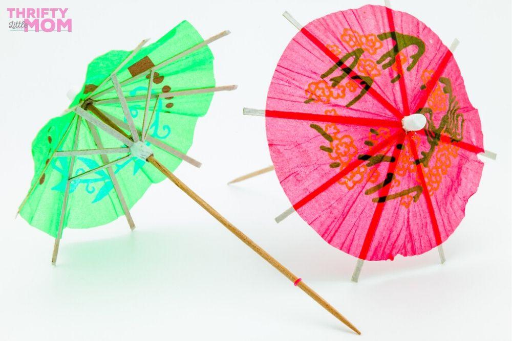 drink umbrellas make a good decoration idea for a luau party